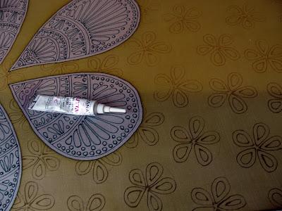Painting on silk technique - contour / tapyba ant šilko, technika - kontūrai