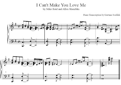 I Can't Make You Love Me - George Michael - Piano Cover