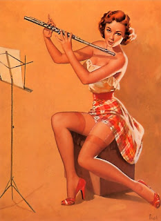 Pearl Frush flautist pin-up