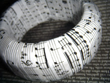 Sheet Music Decoupaged Bangle