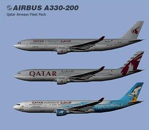 Flight Simulator Repaints & Stuff: Qatar Airways Fleet Pack