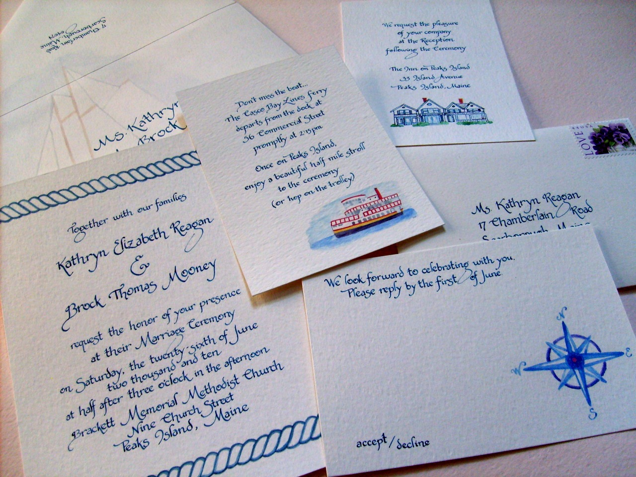 Wedding Invitations Nautical Theme: Simply El: Katie And Brock's Nautical Themed Wedding
