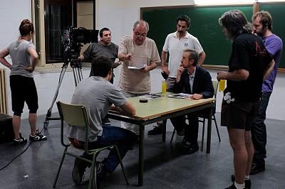 Pedro Costa dando instrucciones de rodaje