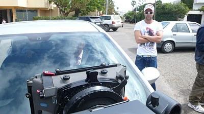 foto de rodaje preparación coche