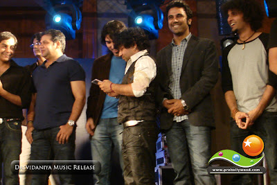 Suresh Menon, Kailash Kher, Paresh, Naresh at the Dasvidaniya Music Release function in Juhu