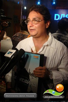 Actor Vinay Pathak talks to media about Dasvidaniya at the music release function at JW Marriot in Juhu, Bombay