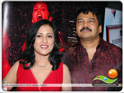 Bollywood singer Madhushree with her husband Music Director Robby Badal