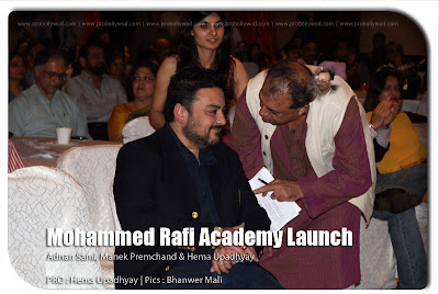 Adnan Sami and Manek Premchand at Mohammed Rafi Academy launch