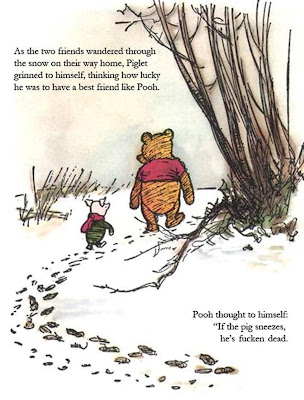 Pooh and Piglet cartoon, click to enlarge