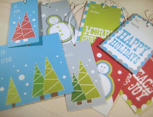 Paper Squid blog free holiday and Christmas tag printables