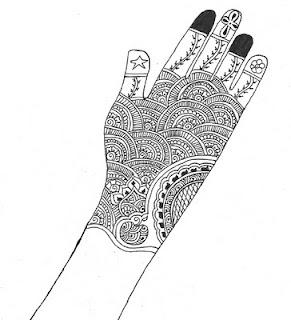 Indigenous Jesus Contextualized Henna Art
