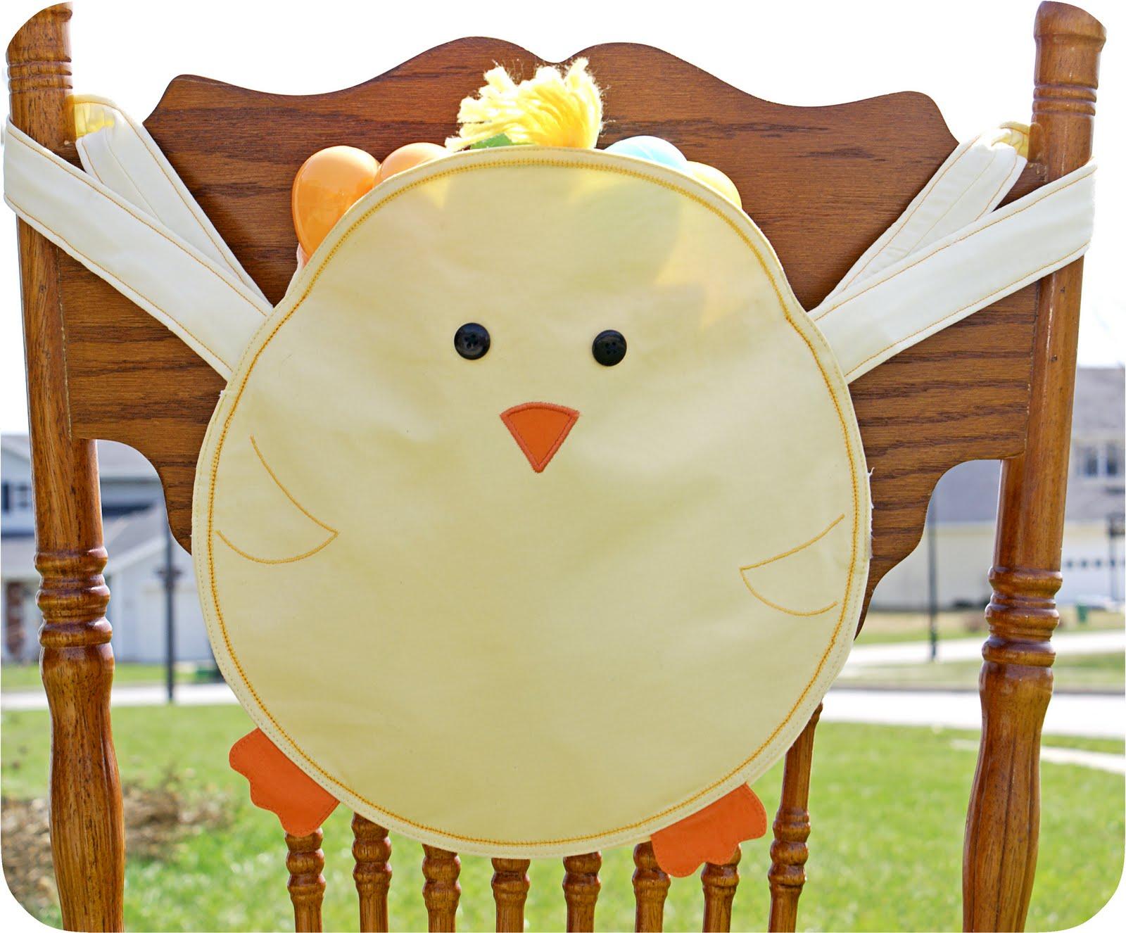 Swell Five Little Crafty Birdies Easter Chick Bag Basket Spiritservingveterans Wood Chair Design Ideas Spiritservingveteransorg