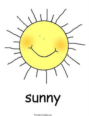 El Clima En Inglés Sunny Soleado Fichas Para Niños
