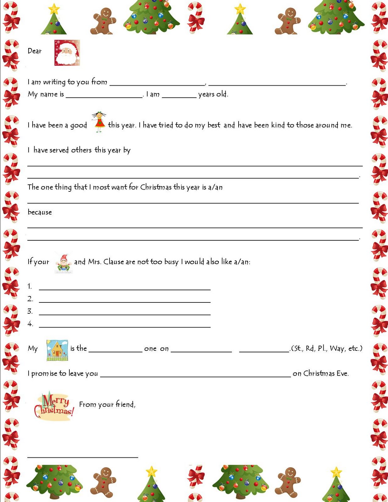 Christmas List Templates christmas shopping gift and to do list – Microsoft Word Santa Letter Template