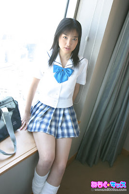 Schoolgirl in mini skirt