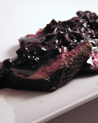 Cast Sugar Seared Venison Roast With A Blueberry