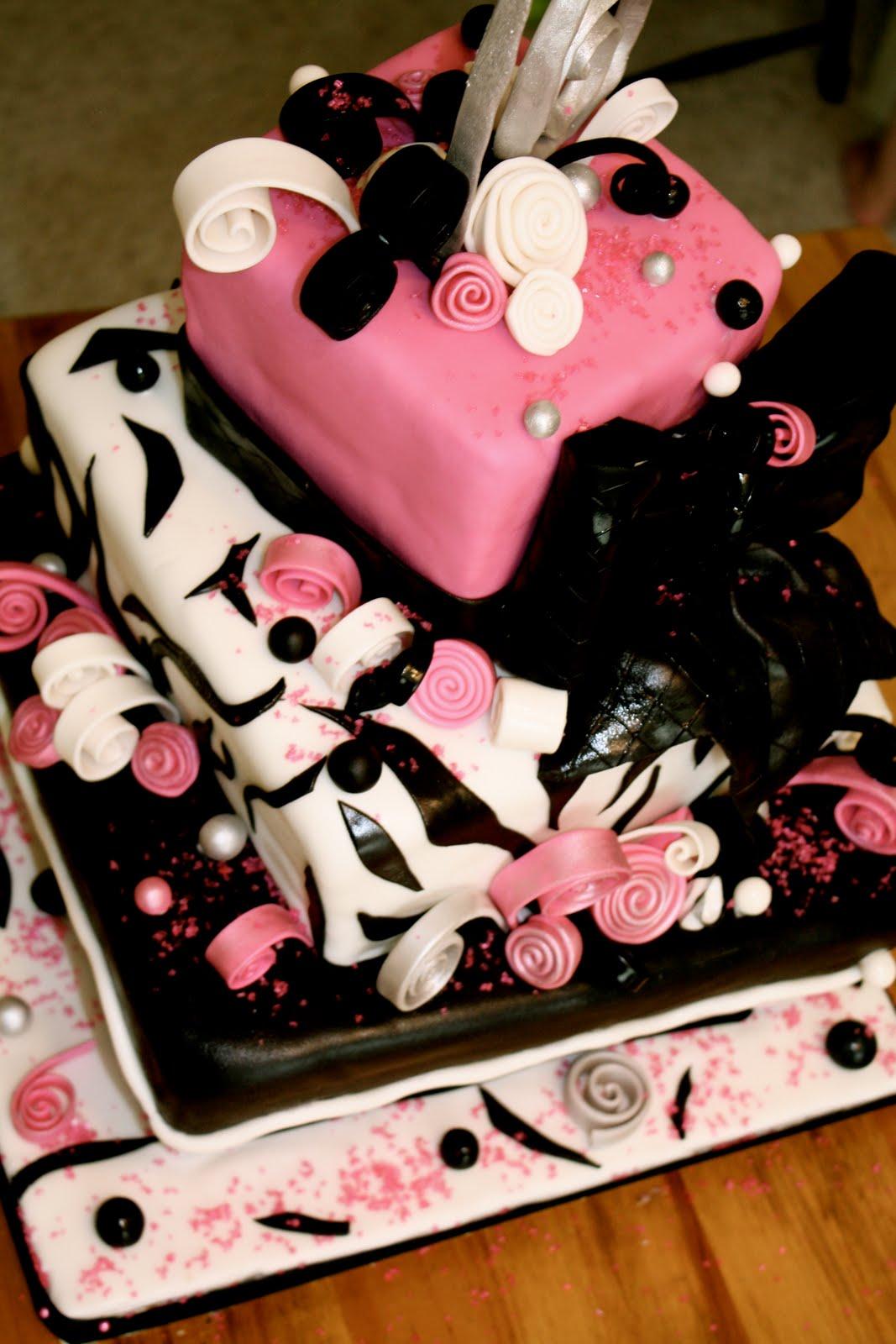 Bumble Cakes Sweet Sixteen Zebra Cake