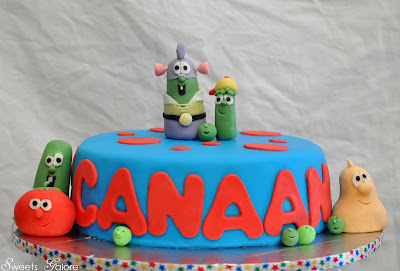 Sweets Galore Veggie Tales Cake