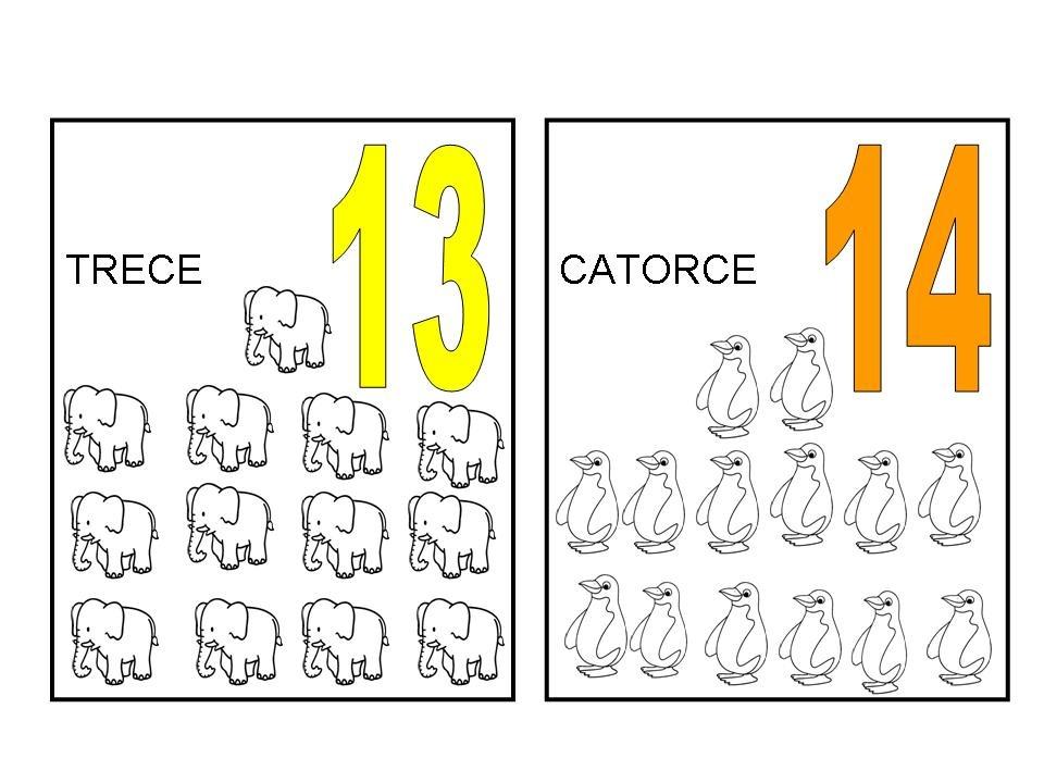 Numero 13 Para Colorear: DEL UNO AL CIEN: Noviembre 2010