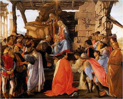 Botticelli e sua pintura que retrata momentos da vida de um Jesus que tem traços europeus
