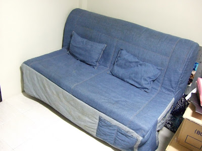 Miffed Ikea Sofa Bed Queen Size With Denim Upholstry