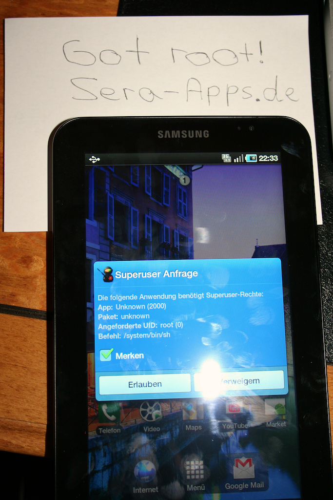 jkkmobile: That was fast! Samsung Galaxy Tab rooted!