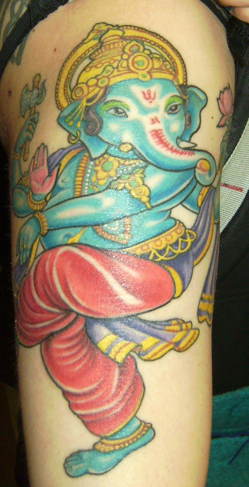 Tattoosday (A Tattoo Blog): Ganesh Waits for the A Train