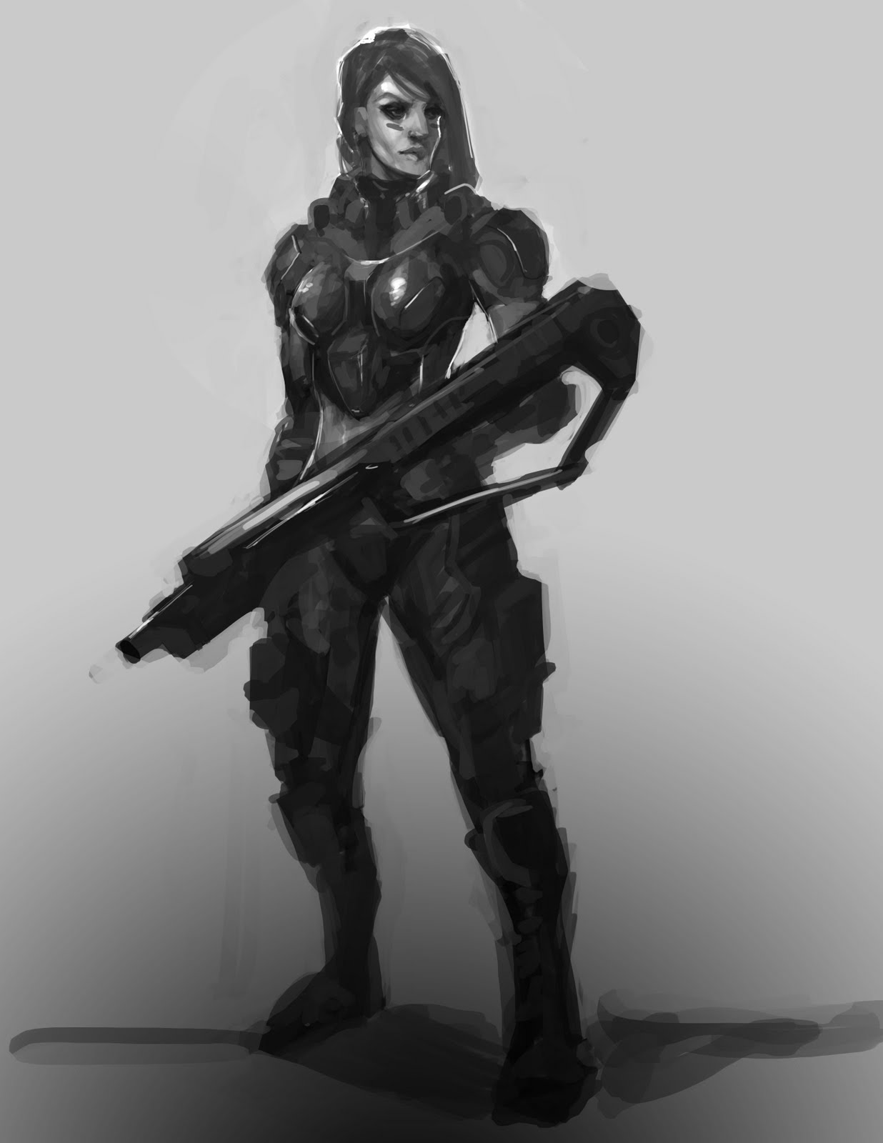 The Art of Trung Nguyen: female soldier