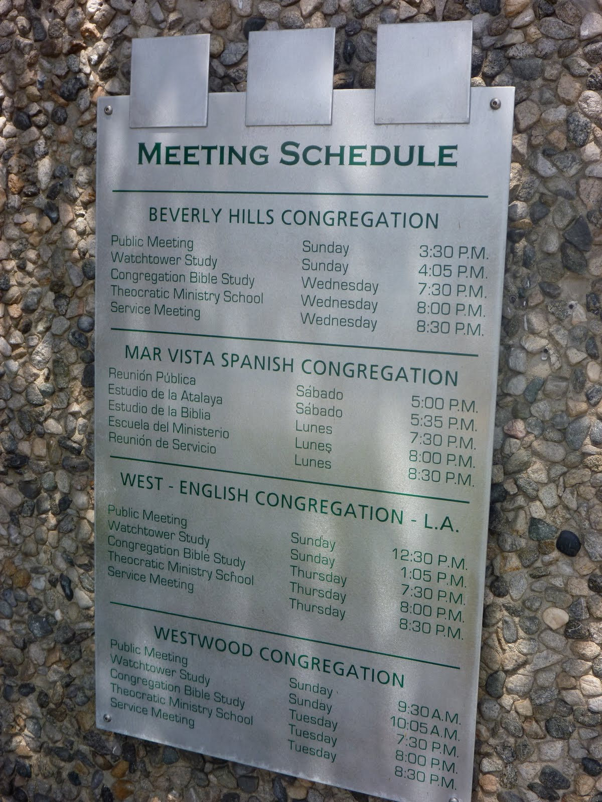 Jehovahs witnesses service meeting scheduler