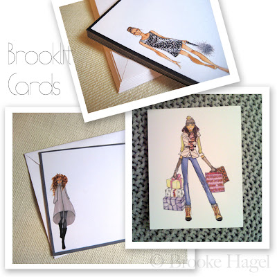 01838352f65 New to my collection are sets of flat note cards (shown above Carrie and  Vogue). I love flat note cards