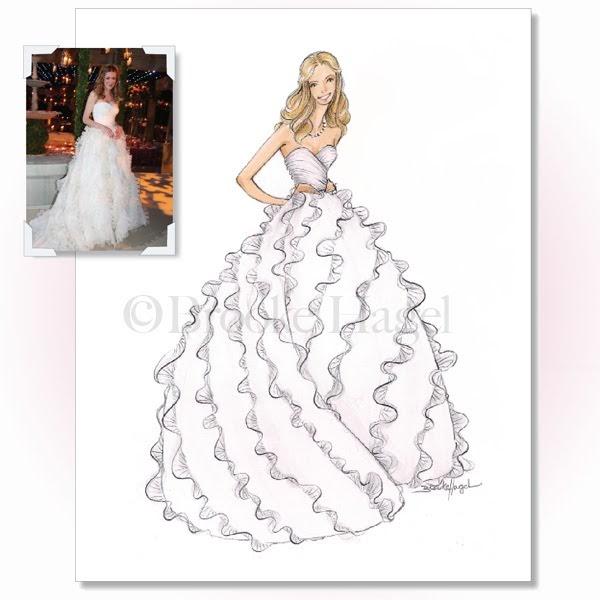 Wedding Gown Illustrations: Fabulous Doodles Fashion Illustration Blog By Brooke Hagel