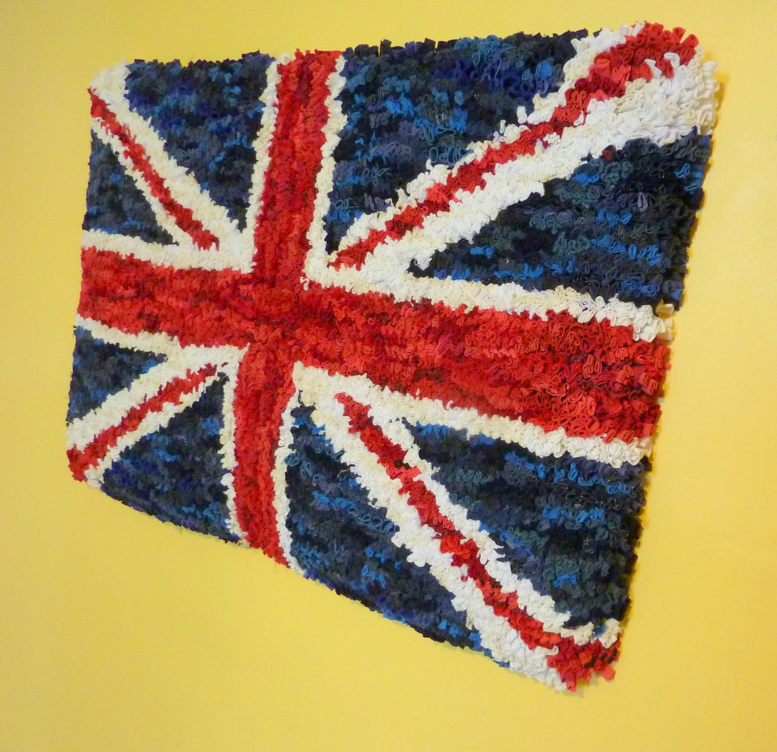 Fire Horse Textiles Austerity Britain 7 Rag Rug Wall Hanging