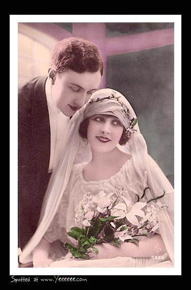 Cartes postales anciennes: carte postale ancienne, mariage