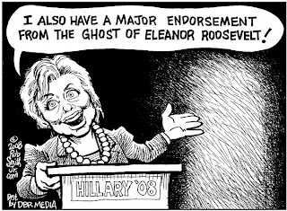 Cartoon by Rob Smith, Jr., Clinton Endorsement by Eleanor Roosevelt