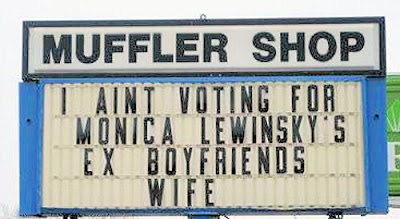 I Aint Voting For Monica Lewinskys Ex Boyfriends Wife
