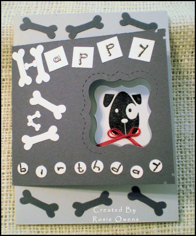 Happy Birthday Card With Dog Theme