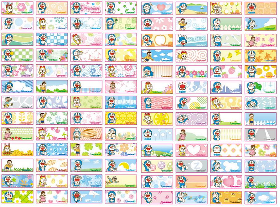 Color name stickerd822 9mm 140pcs doraemon