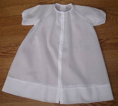 The Old Fashioned Baby Sewing Room: Sewing a Baby Daygown - The