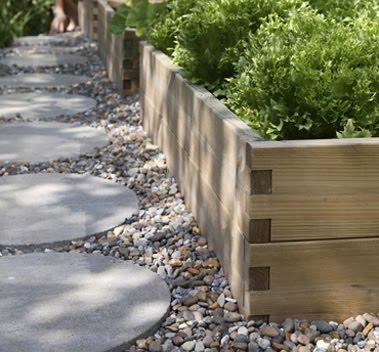 runda betongplattor