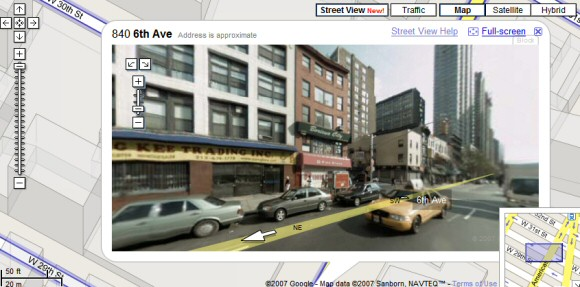 Google maps street view may