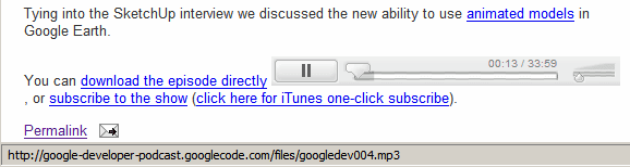 Listen to MP3 Files Online Using Google's Flash Player