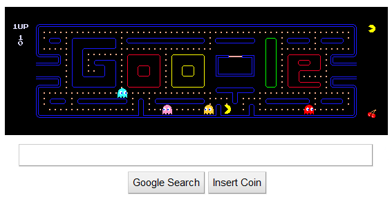 Play Pac Man On Google S Homepage