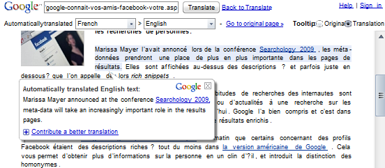 New Options for Translating Web Pages