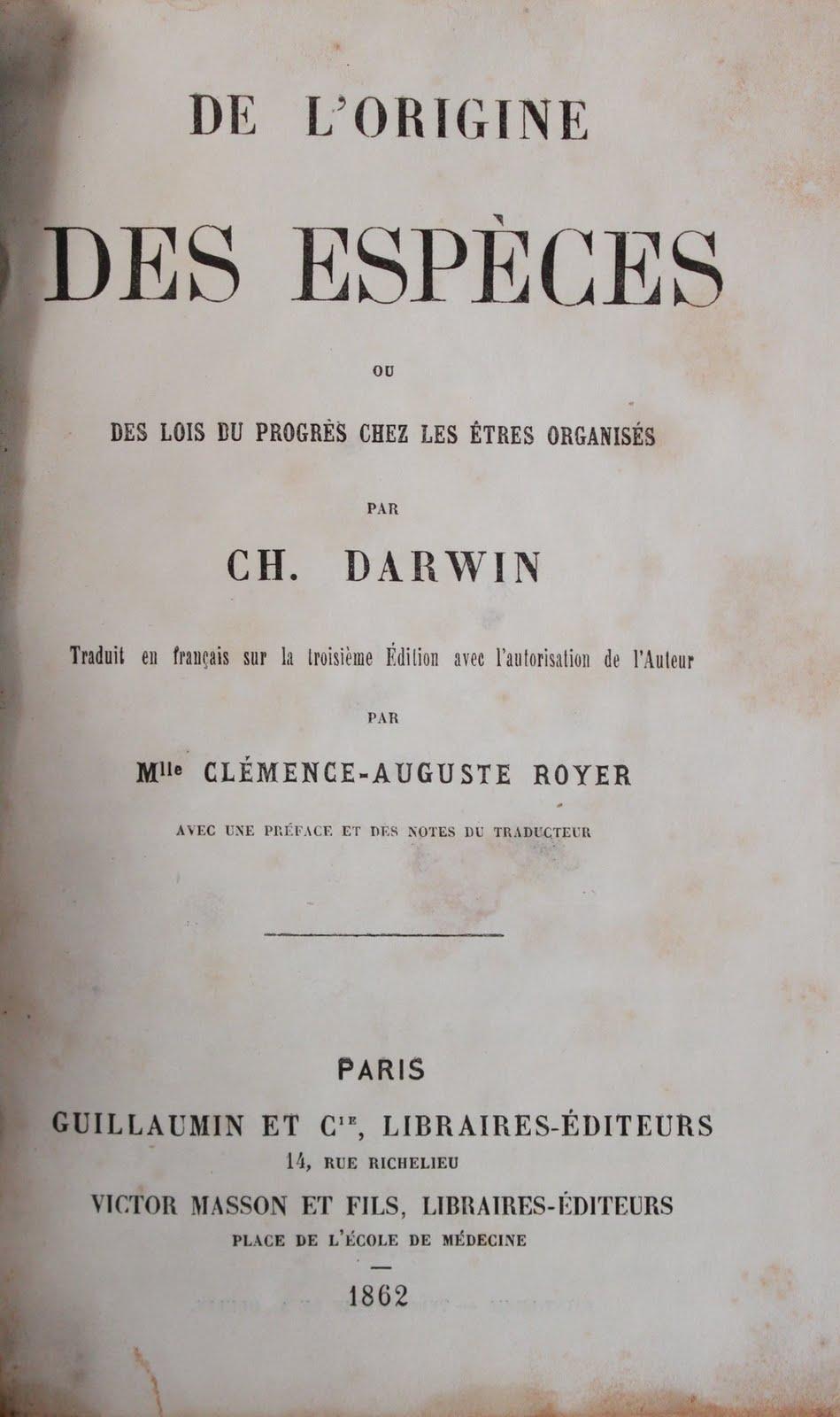 Charles Darwin - De L'Origine Des Espèces [MULTI]
