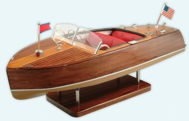 Dioramas and Clever Things: Runabouts - vintage speedboat models
