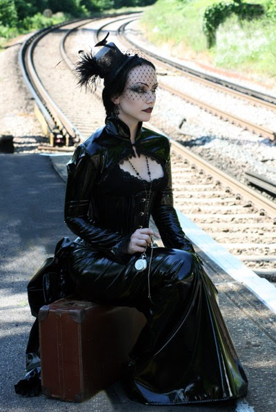 The Bizarre and Weird: Goth Woman Waiting for Train
