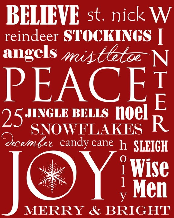 christmas+subway+art+free+printable - 30+ FREE Christmas Printables