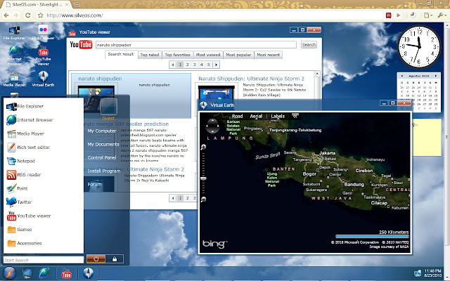 SilveOS.com - Silverlight Operating System di Dalam Web Browser