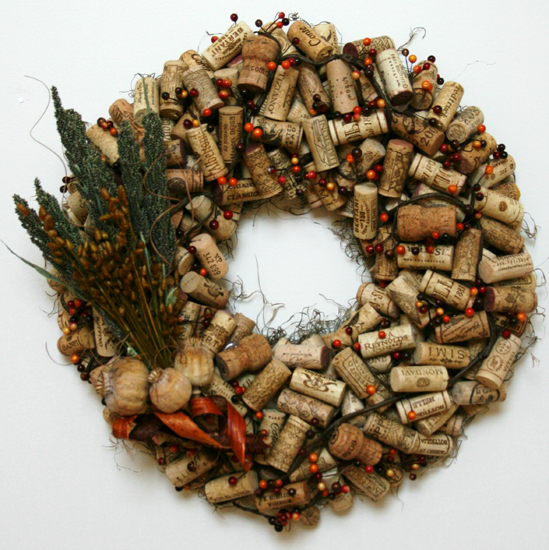 Cork Wreath: Easy Frugal Living: Parade Of Wreaths