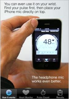 iPhone yardımıyla tansiyon ölçüyor...